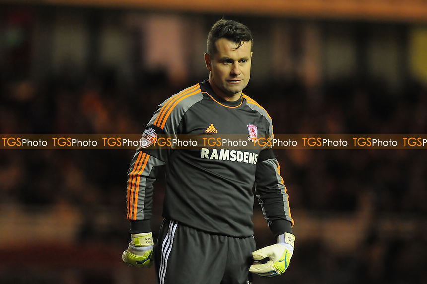Shay Given of Middlesbrough - Middlesbrough vs Brighton & Hove Albion - Sky Bet Championship Football at the Riverside Stadium, Middlesbrough - 14/12/13 - MANDATORY CREDIT: Steven White/TGSPHOTO - Self billing applies where appropriate - 0845 094 6026 - contact@tgsphoto.co.uk - NO UNPAID USE