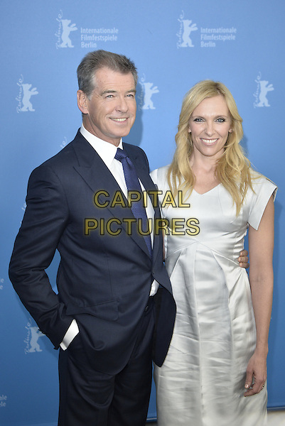 BERLIN, GERMANY - FEBRUARY 10 - Pierce Brosnan and Toni Collette attending the Long Way Down Photocall,  at the Berlin Film Festival, on Monday, February 10, 2014<br /> <br /> CAP/AAP<br /> &copy;AAP/Capital Pictures