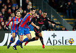 Crystal Palace's Scott Dann tussles with Arsenal's Alexandre Lacazette during the premier league match at Selhurst Park Stadium, London. Picture date 28th December 2017. Picture credit should read: David Klein/Sportimage