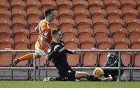 Blackpool's John O'Sullivan is tackled by Barnsley's Liam Lindsay<br /> <br /> Photographer Rich Linley/CameraSport<br /> <br /> The EFL Sky Bet League One - Blackpool v Barnsley - Saturday 22nd December 2018 - Bloomfield Road - Blackpool<br /> <br /> World Copyright &copy; 2018 CameraSport. All rights reserved. 43 Linden Ave. Countesthorpe. Leicester. England. LE8 5PG - Tel: +44 (0) 116 277 4147 - admin@camerasport.com - www.camerasport.com