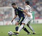 MADRID (15/(09/2010).- Champions League match Real Madrid vs Ajax Amsterdam. Mounir El Hamdaoui and Mesut Özil...Photo: Cesar Cebolla / ALFAQUI