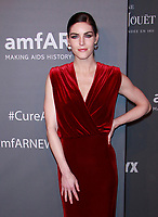 NEW YORK, NY - FEBRUARY 6: Hilary Rhoda arriving at the 21st annual amfAR Gala New York benefit for AIDS research during New York Fashion Week at Cipriani Wall Street in New York City on February 6, 2019. <br /> CAP/MPI99<br /> ©MPI99/Capital Pictures