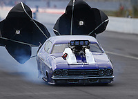Mar 13, 2015; Gainesville, FL, USA; NHRA pro mod driver Jim Whiteley during qualifying for the Gatornationals at Auto Plus Raceway at Gainesville. Mandatory Credit: Mark J. Rebilas-