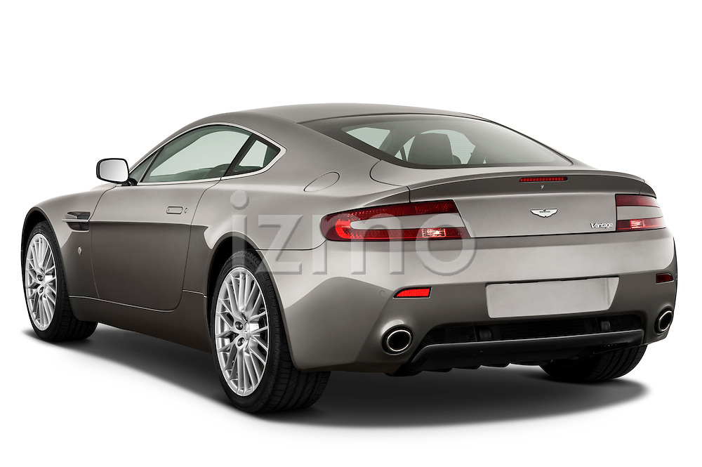 Rear three quarter view of a 2007 - 2009 Aston Martin Vantage V8 Roadster Coupe.