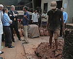 "PRINCE ANDREW.The Duke of York, watches a potter mix clay during his visit to Kumbharwada (potter's dwellings) at Dharavi Slum in Mumbai, India_May 2, 2012..The Duke of York, who is representing Queen Elizabeth II in the year of her Diamond Jubilee is on a week long tour of India..Mandatory Credit Photo: ©Solaris-NEWSPIX INTERNATIONAL..(Failure to credit will incur a surcharge of 100% of reproduction fees)..                **ALL FEES PAYABLE TO: ""NEWSPIX INTERNATIONAL""**..IMMEDIATE CONFIRMATION OF USAGE REQUIRED:.Newspix International, 31 Chinnery Hill, Bishop's Stortford, ENGLAND CM23 3PS.Tel:+441279 324672  ; Fax: +441279656877.Mobile:  07775681153.e-mail: info@newspixinternational.co.uk"