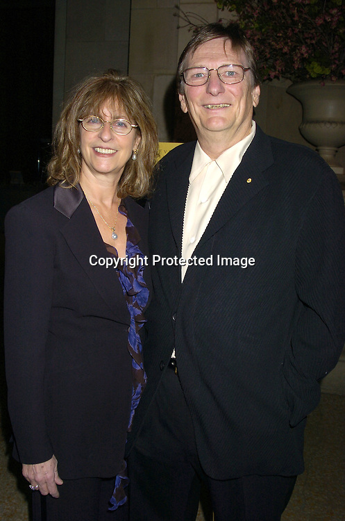 """Mary and Fred Schepsis..at a screening of an HBO Film """"Empire Falls"""" on ..May 9, 2005 at the Metropolitan Museum of Art. ..Photo by Robin Platzer, Twin Images"""