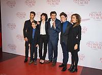 PIERRE NINEY, PAVEL PUCHALSKI, CHARLOTTE GAINSBOURG, ERIC BARBIER (REALISATEUR) ET NEMO SCHIFFMAN - PREMIERE DU FILM 'LA PROMESSE DE L'AUBE' AU GAUMONT CAPUCINES DE PARIS LE 12 DECEMBRE 2017. # PREMIERE DU FILM 'LA PROMESSE DE L'AUBE' A PARIS