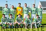 Listowel Celtic : Front : Kevin Bambury, Aidan Quinn, Seamus Keane, Brian Murphy & Paudie Quinn. Back : Michael woods, Martin Loughnane, Cathal Keane Kevin Mccarthy, Conor Cox & Eddie Joe Walsh.