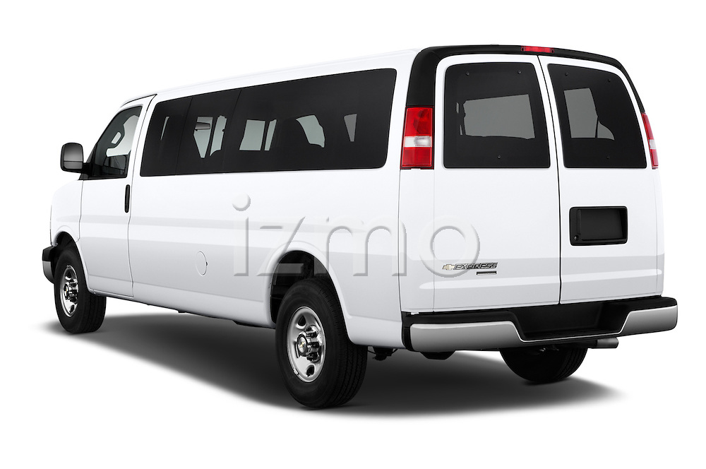 Car pictures of rear three quarter view of 2016 Chevrolet Express 3500-LS 4 Door Passenger Van Angular Rear