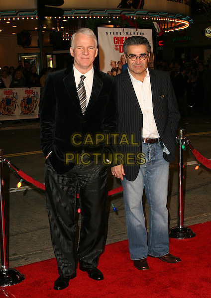 "STEVE MARTIN & EUGENE LEVY.""Cheaper By The Dozen 2"" World Premiere - Arrivals .held at the Mann Village Theatre, Westwood, California..December 13th, 2005.Photo: Zach Lipp/AdMedia/Capital Pictures.Ref: ZL/ADM.full length black suit.www.capitalpictures.com.sales@capitalpictures.com.© Capital Pictures."