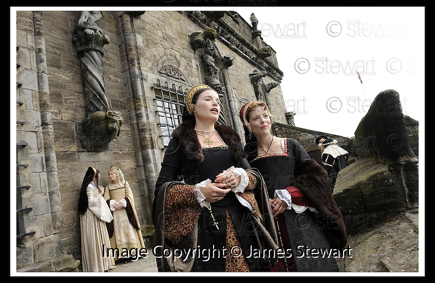 10/06/2008   Copyright Pic: James Stewart.File Name : sct_06_stirling.MARY DE GUISE TALKS TO HER LADY IN WAITING AT THE LAUNCH OF THE STIRLING CASTLE PROJECT....James Stewart Photo Agency 19 Carronlea Drive, Falkirk. FK2 8DN      Vat Reg No. 607 6932 25.Studio      : +44 (0)1324 611191 .Mobile      : +44 (0)7721 416997.E-mail  :  jim@jspa.co.uk.If you require further information then contact Jim Stewart on any of the numbers above........