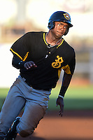 Bradenton Marauders outfielder Josh Bell (17) runs the bases during a game against the Charlotte Stone Crabs on April 4, 2014 at Charlotte Sports Park in Port Charlotte, Florida.  Bradenton defeated Charlotte 9-1.  (Mike Janes/Four Seam Images)