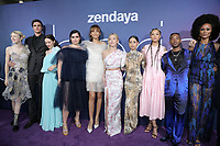 "LOS ANGELES - JUN 4:  Alexa Demie, Maude Apatow, Barbie Ferreira, Sydney Sweeney, Zendaya, Storm Reid, Hunter Schafer, Nika Williams at the LA Premiere Of HBO's ""Euphoria"" at the Cinerama Dome on June 4, 2019 in Los Angeles, CA"