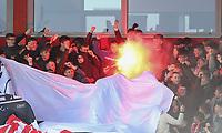 Fleetwood Town fans enjoy the pre-match atmosphere <br /> Photographer Lee Parker/CameraSport<br /> <br /> The EFL Sky Bet League One - Fleetwood Town v Blackpool - Saturday 7th March 2020 - Highbury Stadium - Fleetwood<br /> <br /> World Copyright © 2020 CameraSport. All rights reserved. 43 Linden Ave. Countesthorpe. Leicester. England. LE8 5PG - Tel: +44 (0) 116 277 4147 - admin@camerasport.com - www.camerasport.com
