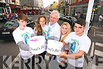 Pictured collecting on Donal's Day in Tralee town on Tuesday were, left to right: Ger O'Connor, Ríona Walsh, Fionnbar Walsh, Aishlin O'Rourke and Cormac Coffey.