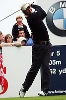 Padraig Harrington drives off on the 4th tee during the 3rd round of the BMW PGA Championship at Wentworth Club, Surrey, England 26th may 2007 (Photo by Eoin Clarke/NEWSFILE)