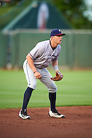 Northwest Arkansas Naturals third baseman Hunter Dozier (24) during a game against the Springfield Cardinals on April 26, 2016 at Hammons Field in Springfield, Missouri.  Northwest Arkansas defeated Springfield 5-2.  (Mike Janes/Four Seam Images)