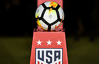 San Jose, CA - Sunday November 12, 2017: NIKE game ball during an International friendly match between the Women's National teams of the United States (USA) and Canada (CAN) at Avaya Stadium.