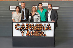 Spanish actor Paco Leon (2R) and actresses Maria Leon (L) and Carmina Barrios (C) pose during `Carmina y amen´ film premiere photocall at Cineteca Matadero in Madrid, Spain. April 28, 2014. (ALTERPHOTOS/Victor Blanco)