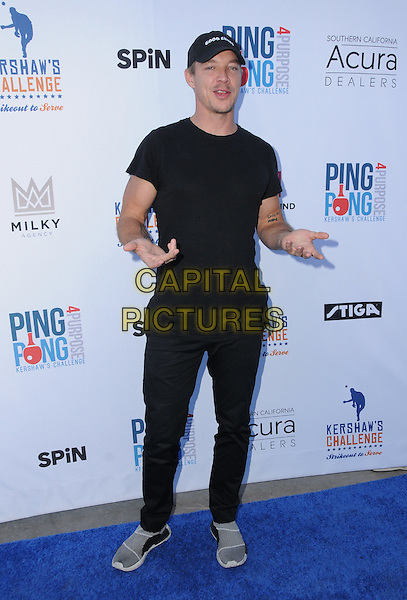 11 August 2016 - Los Angeles, California. Diplo. Clayton Kershaw's 4th Annual Ping Pong 4 Purpose Celebrity Tournament held at Dodger Stadium. <br /> CAP/ADM/BT<br /> &copy;BT/ADM/Capital Pictures