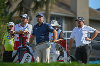 Graeme McDowell (NIR) and Shane Lowry (IRL) wait to tee off on 17 during round 2 of the Arnold Palmer Invitational at Bay Hill Golf Club, Bay Hill, Florida. 3/8/2019.<br /> Picture: Golffile | Ken Murray<br /> <br /> <br /> All photo usage must carry mandatory copyright credit (&copy; Golffile | Ken Murray)