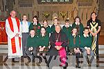 The pupils from Gael Scoil, Listowel, who were confirmed in St. Mary's Church, Listowel, by Bishop Bill Murphy on Wednesday, March 21st. Front l-r: Caoimhin O Conchuir, Beibhinn Ni Dhonnchu, Sorcha NI Chroidheain, Caomhan O Dalaigh. Back l-r: Mons. Deaglan O Conchuir, Deirdre Aghas (priomhoide), Lauryn Ni Ghogain, Mychaela Ni Liathain, Mikey O Duinn, Siobhan Ni Chaoimh Ceallaigh, Megan Ni Chionnaith agus Eibhlin Baroid (muinteoir).