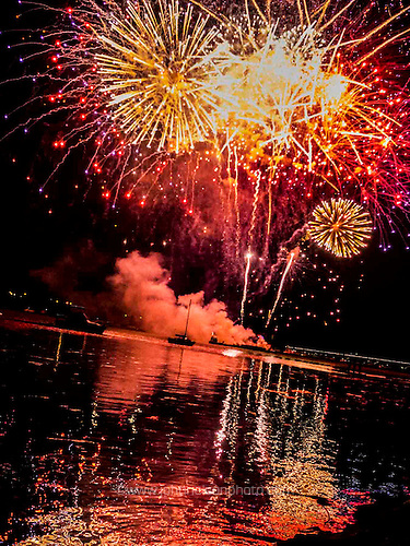 The finale of the fireworks celebrating the city of Alexandria's 267th birthday.
