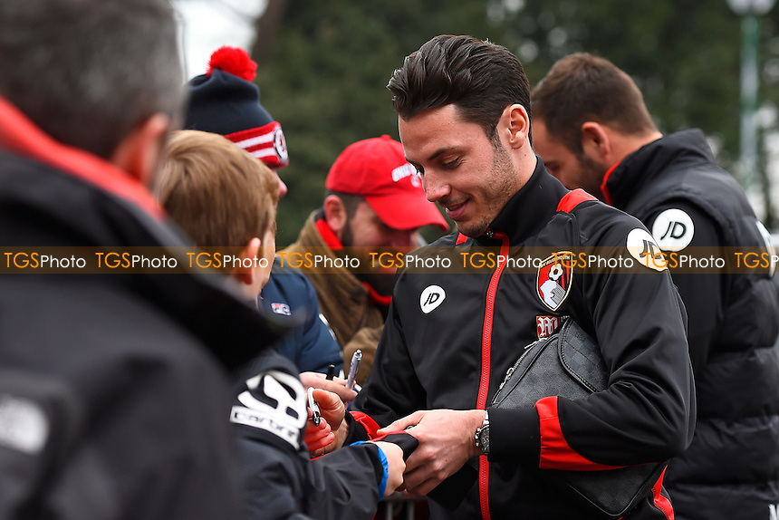 Adam Smith of AFC Bournemouth signs an autograph during AFC Bournemouth vs Watford, Premier League Football at the Vitality Stadium on 21st January 2017