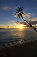 Sunset over Truk lagoon, Chuuk Micronesia