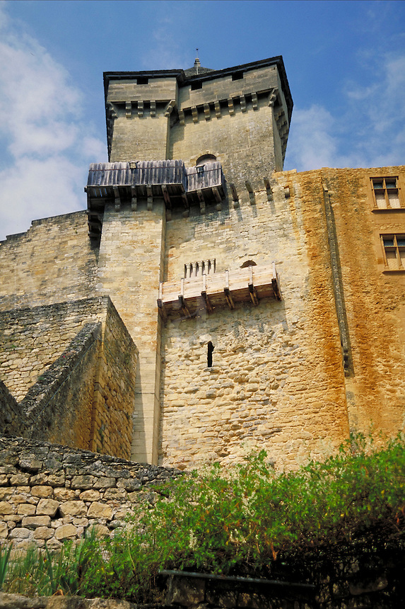 Castelnaud, Sarlat, France. ancient architecture, tower. Sarlat France.