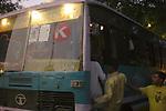 Commuters in New Delhi, India.