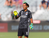Cary, NC - August 15, 2019:  Olympique Lyonnais defeated Atletico de Madrid 1-0 during the Women's International Champions Cup at WakeMed Soccer Park.