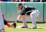 18 March 2007: Florida Marlins first baseman Mike Jacobs attempts a pick-off against the Washington Nationals at Space Coast Stadium in Viera, Florida...Mandatory Photo Credit: Ed Wolfstein Photo
