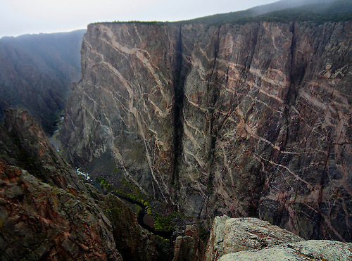 A view of the Painted Wall at the Black Canyon of the Gunnison National Park, Colorado