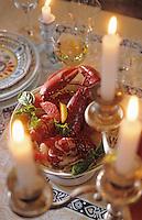 Europe/France/Bretagne/29/Finistère/Concarneau: Repas au chateau de Keriolet - Salade de homard aux agrumes et celeri confit