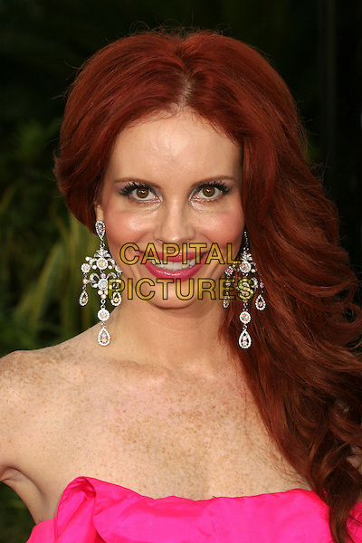 """PHOEBE PRICE.""""The Bourne Ultimatum"""" Los Angeles Premiere at the Arclight Theatre, Hollywood, California, USA..July 25th, 2007.headshot portrait strapless dangling earrings .CAP/ADM/BP.©Byron Purvis/AdMedia/Capital Pictures"""