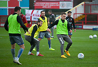 Lincoln City's Jake Hesketh during the pre-match warm-up<br /> <br /> Photographer Andrew Vaughan/CameraSport<br /> <br /> The EFL Sky Bet League One - Accrington Stanley v Lincoln City - Saturday 15th February 2020 - Crown Ground - Accrington<br /> <br /> World Copyright © 2020 CameraSport. All rights reserved. 43 Linden Ave. Countesthorpe. Leicester. England. LE8 5PG - Tel: +44 (0) 116 277 4147 - admin@camerasport.com - www.camerasport.com