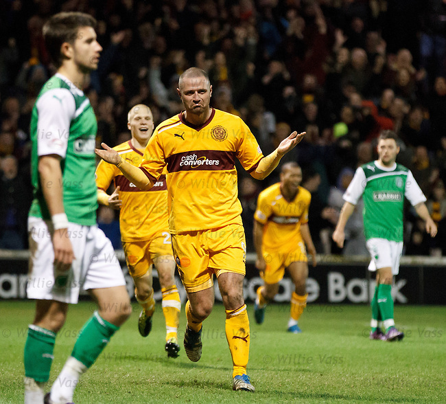 Michael Higdon celebrates his overhead kick goal