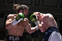 Rylan Charlton (black shorts) defeats Lee Gunter during a Boxing Show at York Hall on 6th October 2018