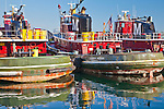 Tugboats in Portsmouth Harbor, Portsmouth, NH, USA