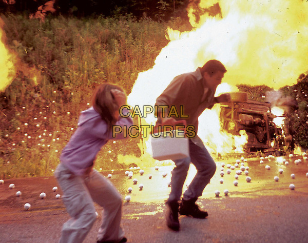 "Dan Blanchard (Ted McGinley) and daughter Marie (Nicole Paggi) narrowly escape a blazing fire in the tense and gripping PAX original movie, ñFrozen Impact."" .Filmstill - Editorial Use Only.Ref: FB.sales@capitalpictures.com.www.capitalpictures.com.Supplied by Capital Pictures.."