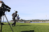 Chris Harrison chips onto the 7th green during Sunday's Final Round of the 2018 AT&amp;T Pebble Beach Pro-Am, held on Pebble Beach Golf Course, Monterey,  California, USA. 11th February 2018.<br /> Picture: Eoin Clarke | Golffile<br /> <br /> <br /> All photos usage must carry mandatory copyright credit (&copy; Golffile | Eoin Clarke)
