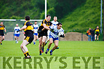 Daithi Casey Dr Crokes tackles Maurice O'Connell Castleisland Desmonds during their Div 1 clash in Killarney on Saturday evening
