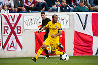 Columbus Crew forward Federico Higuain (33). The New York Red Bulls and the Columbus Crew played to a 2-2 tie during a Major League Soccer (MLS) match at Red Bull Arena in Harrison, NJ, on May 26, 2013.