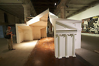 """13th Biennale of Architecture..Arsenale..San Rocco, Ines Weizman. """"FAT. Architectural Doppelgängers Research Cluster."""
