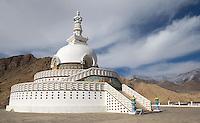The Shanti Stupa overlooks the city of Leh.
