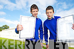 Twins Kieran and Niall Allman, Firies were delighted when they picked up their Junior Cert results at Killarney Community College on Wednesday.