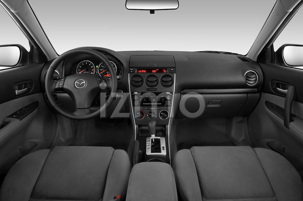 Straight dashboard view of a 2008 Mazda 6 Sport Sedan