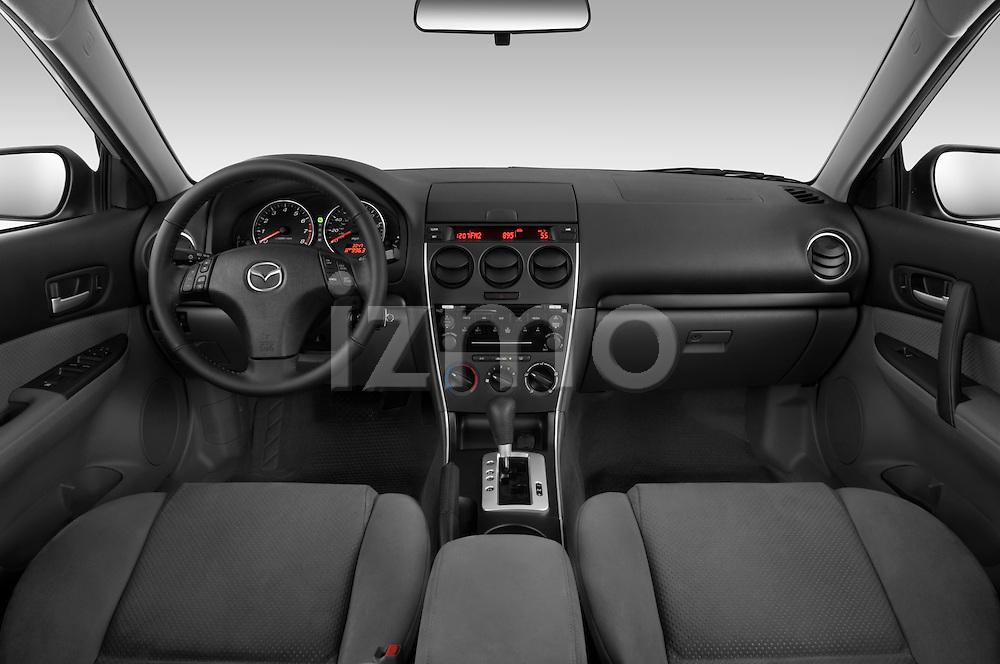 Straight dashboard view of a 2008 Mazda 6 Sport Sedan