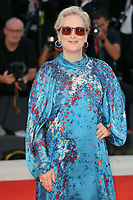 "VENICE, ITALY - SEPTEMBER 01: Meryl Streep walks the red carpet ahead of the ""The Laundromat"" screening during the 76th Venice Film Festival at Sala Grande on September 01, 2019 in Venice, Italy.   (Photo by Mark Cape/Insidefoto)<br /> Venezia 01/09/2019"